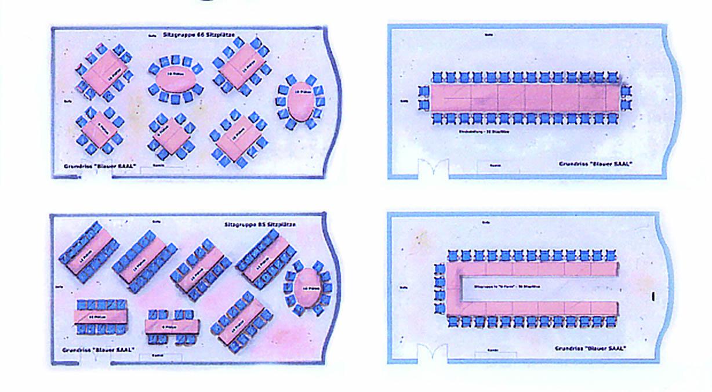 Bestuhlung Blauer Saal am Dippelshof